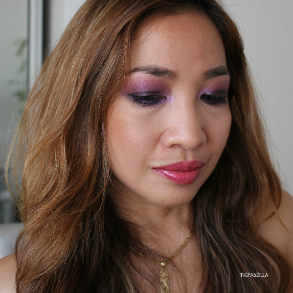 violet smoky eyes, jewel-toned eyes,how, to, dramatic eye makeup, makeup for brown eyes, chanel illusion d'ombre diapason, nars dual intensity eyeshadow subra himalia, tom ford casablanca, chantecaille galactic lip shine aurora, hourglass ambient bronzer bronze light, by terry cc cream, smoky makeup for beginners