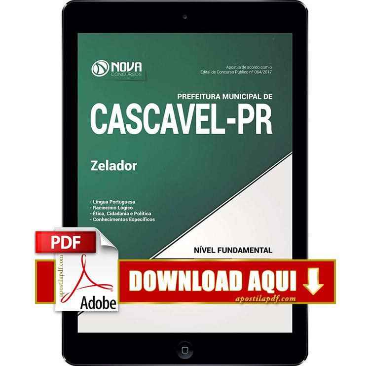 Apostila Prefeitura de Cascavel 2017 Zelador PDF Download