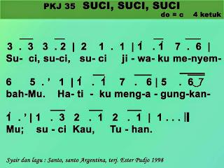 Kord Gitar Lagu PKJ 35 Suci Suci Suci