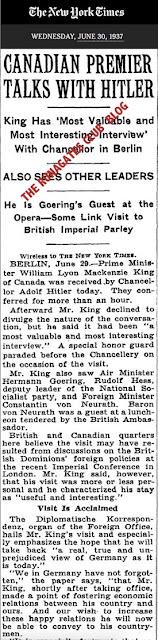 Mackenzie King meets Adolph Hitler - Berlin 1937