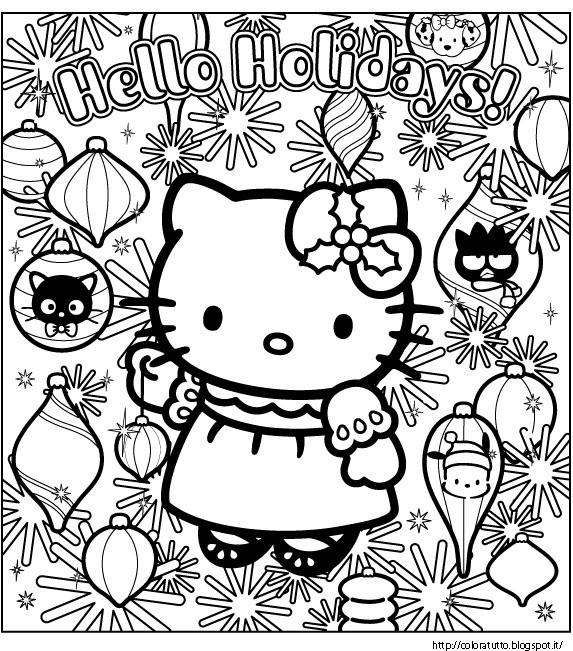 Hello Kitty Disegno Da Colorare N.7