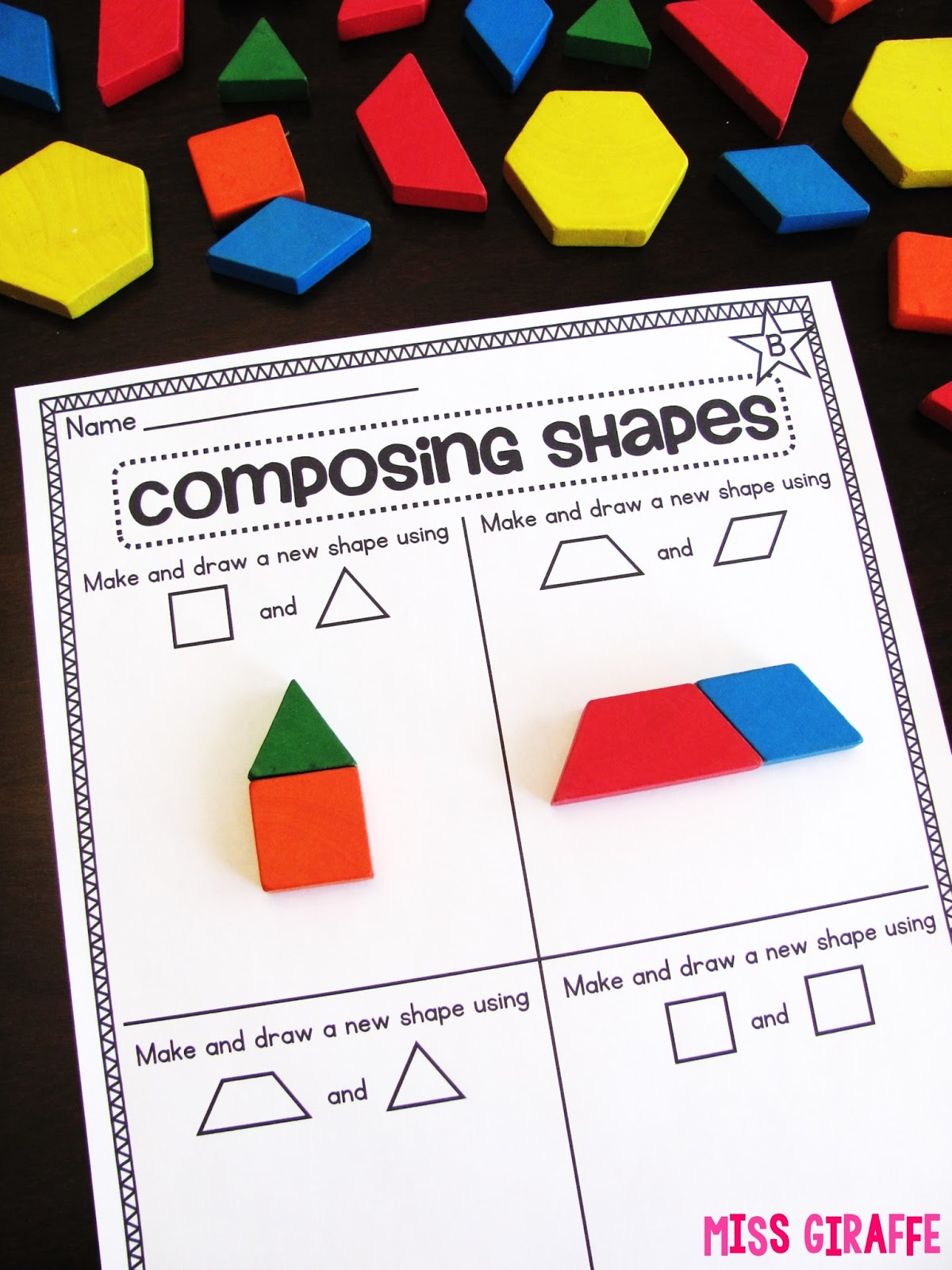 hight resolution of Miss Giraffe's Class: Composing Shapes in 1st Grade