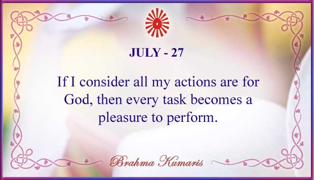 Thought For The Day July 27