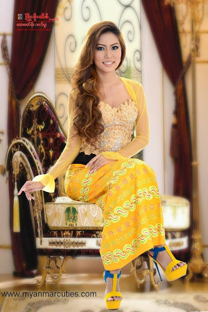 Waist No:4- Sweety Ko with yellow traditional outfit