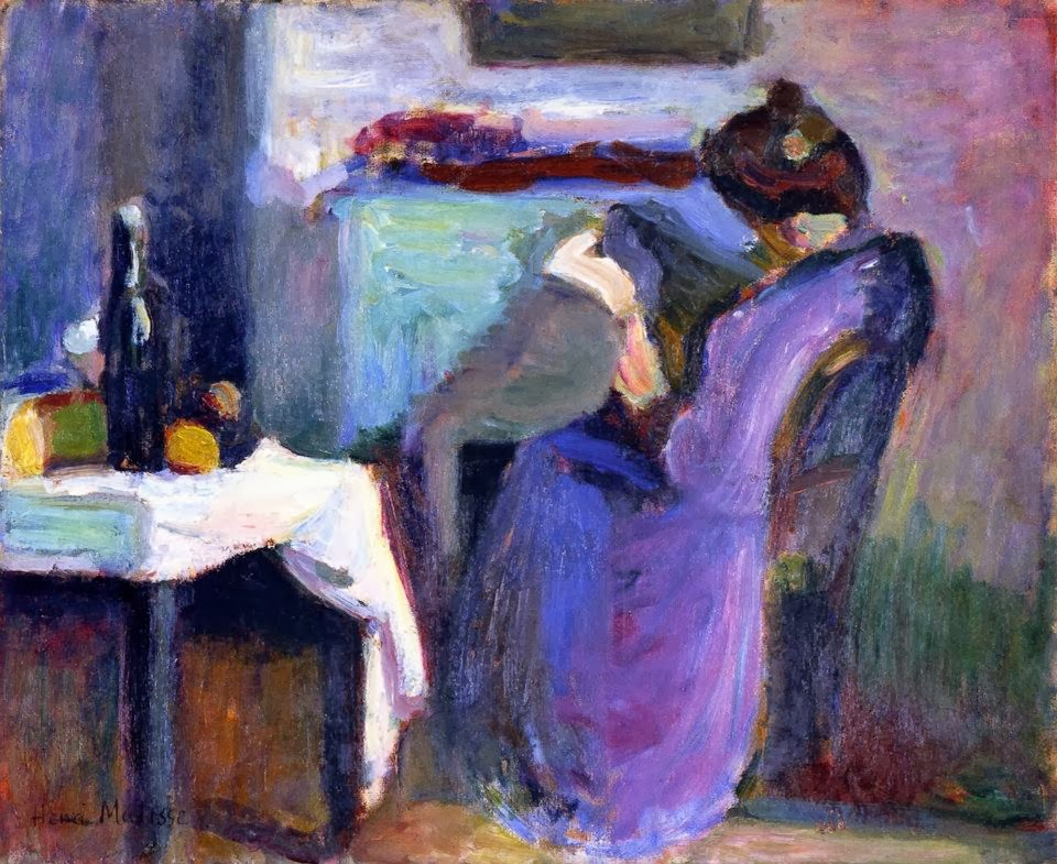 Henri Matisse - Reading Woman in Violet Dress
