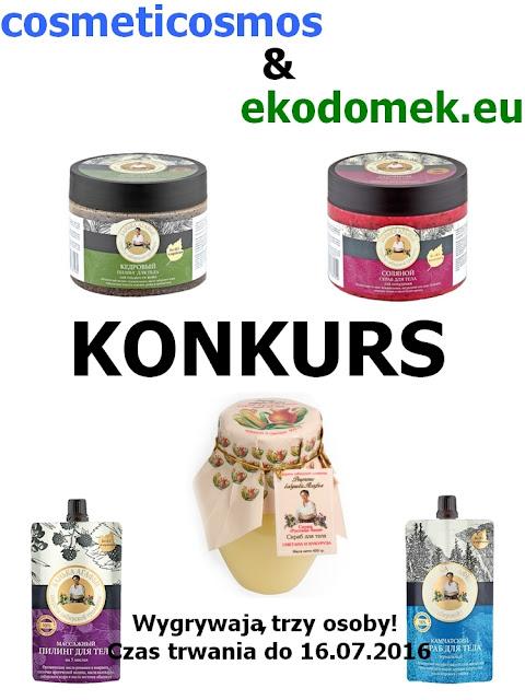 KONKURS z Ekodomkiem - trzy osoby wygrają dowolne kosmetyki Bania Agafii :)