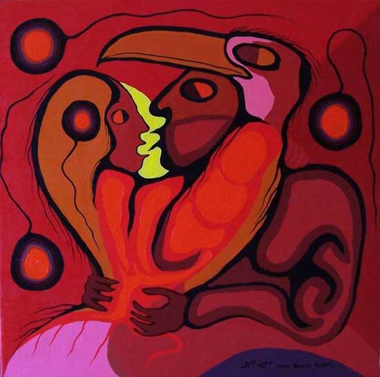 Moses Amik Ojibwe Medicine painter