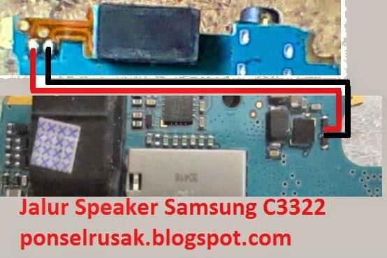 Solusi kerusakan speaker tidak berbunyi pada Samsung C3322
