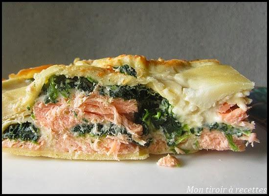 mon tiroir recettes blog de cuisine lasagnes saumon pinards. Black Bedroom Furniture Sets. Home Design Ideas