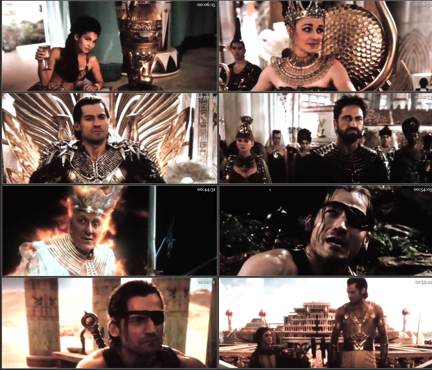 Screen Shot Of Gods of Egypt 2016 Full Movie In Hindi Dubbed TSRip