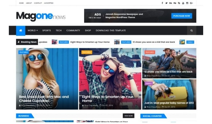 Magone news free blog template