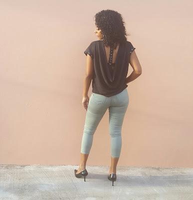 Top Cadena con Skinny Jean