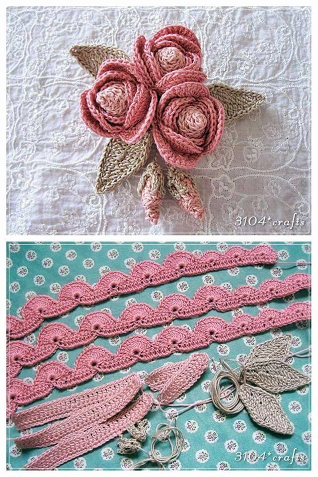 Lo spazio di lilla bouquet di roselline con boccioli all for Immagini uncinetto