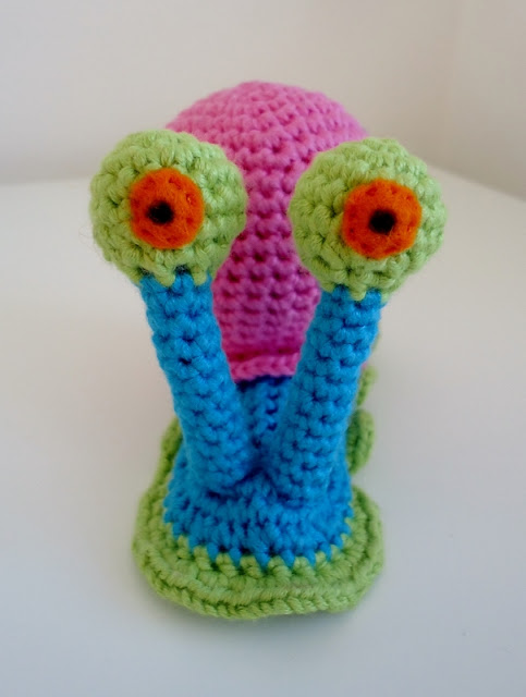 Crochet Gary the Snail from SpongeBob SquarePants