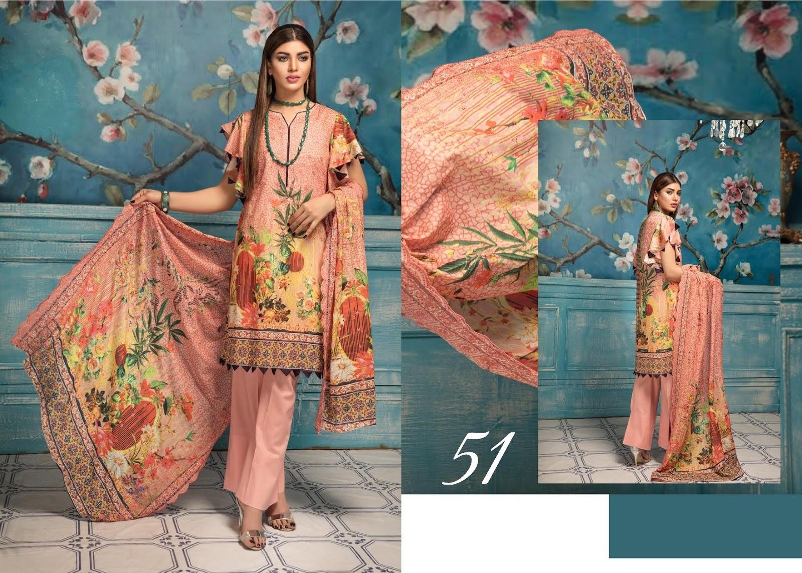 e11d71b6e9 4Seasons Fashion: Mashal Digital Embroidered Lawn by Riaz Arts 2019 ...