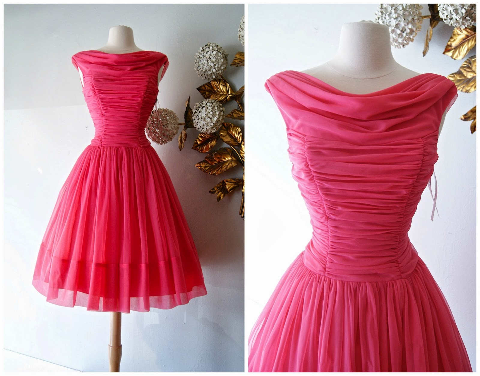 53c49533eb4 Fabulous late 50 s shocking pink party dress is available to purchase HERE.