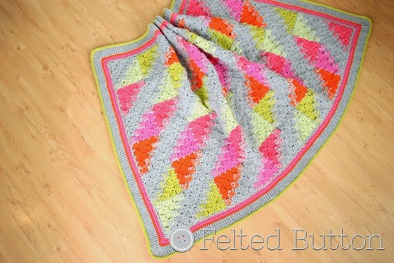 Puzzle Patch Blanket Crochet Pattern by Susan Carlson of Felted Button