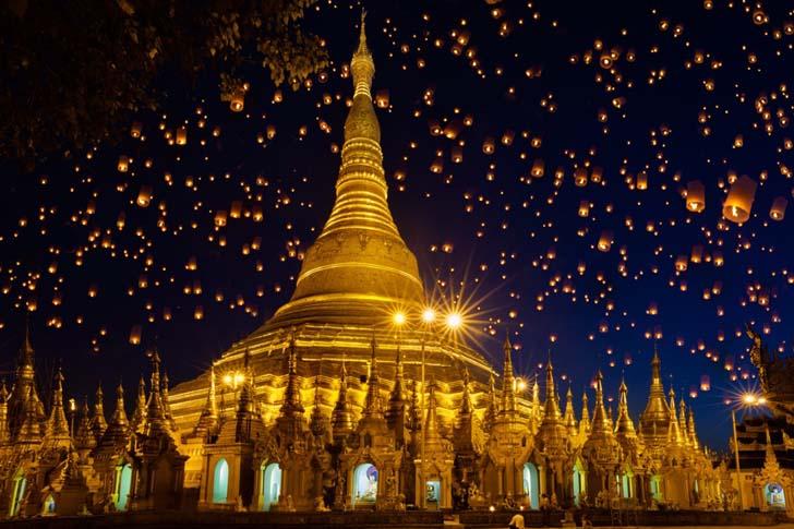 Shwedagon Paya; Myanmar