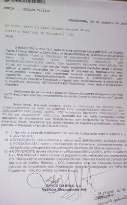 Chapadinha: Banco do Brasil comunica encerramento de consignados
