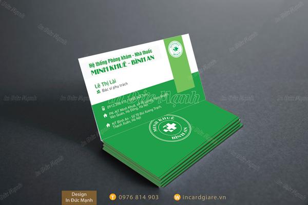 Mẫu card visit Phòng Khám Nhà Thuốc