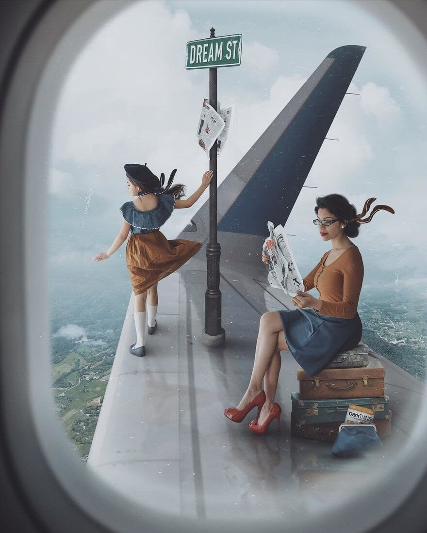 14-One-way-flight-Vanessa-Family-Photos-Surreal-Worlds-www-designstack-co
