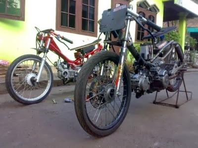Kumpulan Gambar Motor Drag Bike dan Modifikasi Ninja