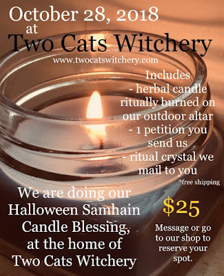 halloween ritual at two cats witchery