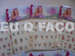 barbie lago do cisne, brindes da barbie, kit manicure, lembrancinhas, brindes, festa, infantil