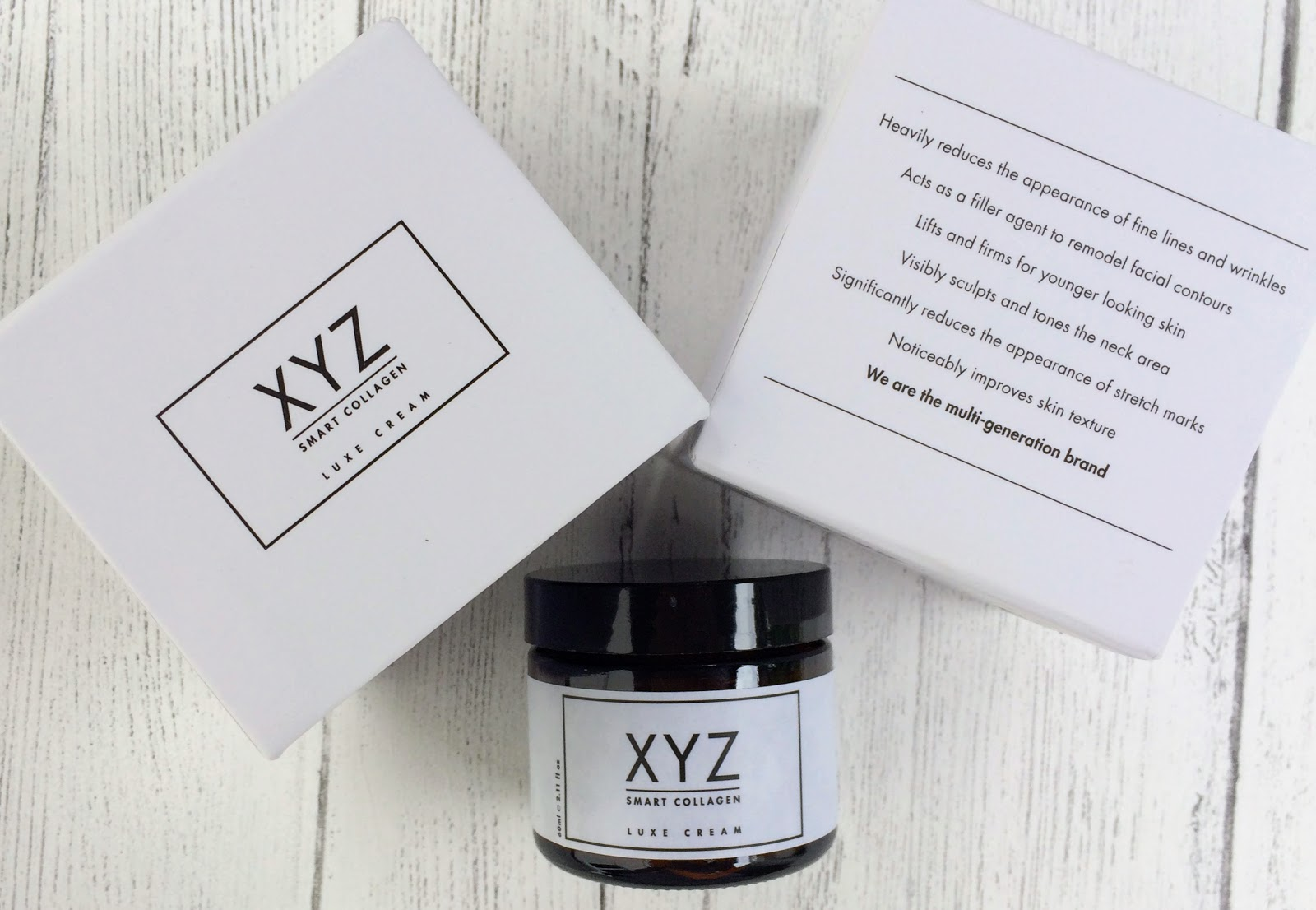 XYZ smart collagen pot and box