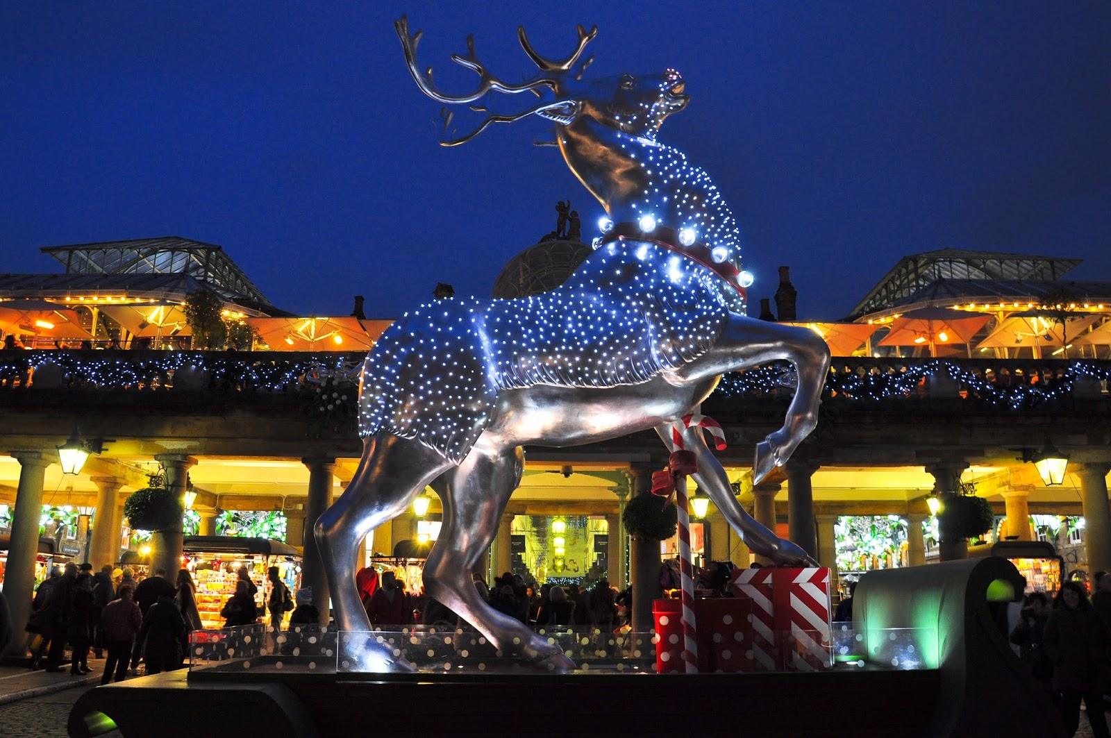 Christmas reindeer, Covent Garden, London, England
