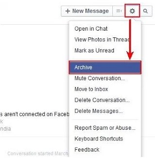 what does it mean to archive a message on facebook