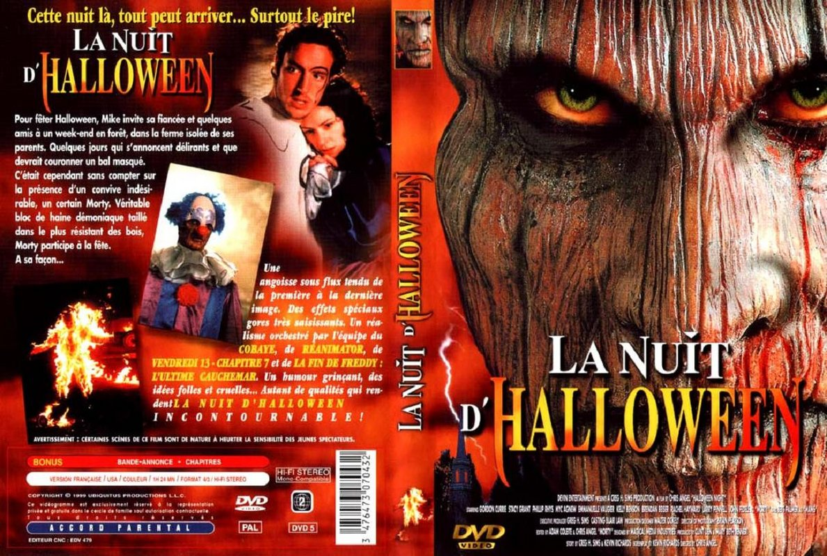Perfect The Horrors Of Halloween: THE FEAR: HALLOWEEN NIGHT (1999) VHS And DVD  Covers