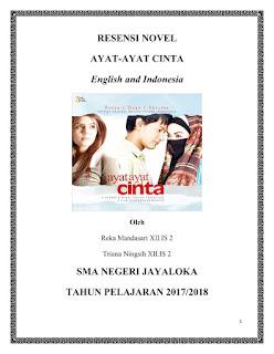 Contoh Resensi Novel Ayat-Ayat Cinta Bahasa Inggris dan Terjemahannya