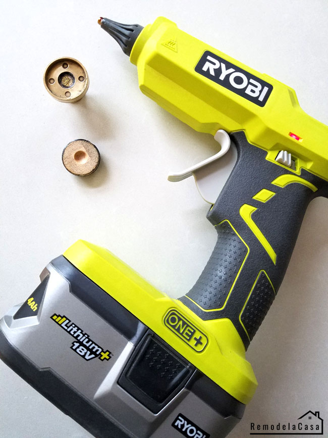 Ryobi Hot glue gun with Lithium+ 18V battery