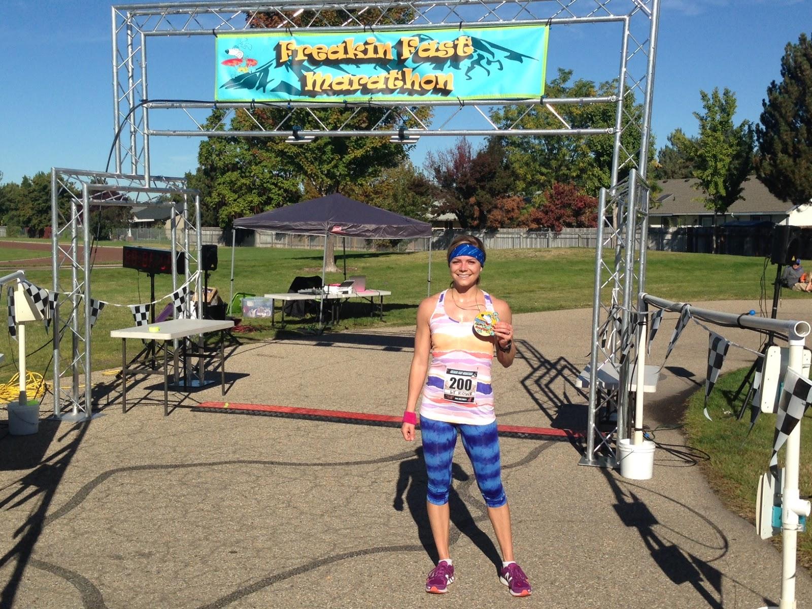 Freakin' Fast Marathon, Boise Idaho Marathon, Marathon PR, Fastest Marathon in the World