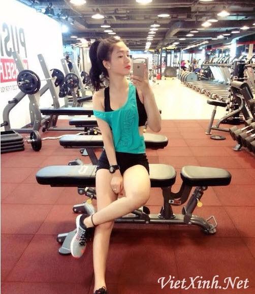 Trang Miu tập gym làm con chim anh xao xuyến