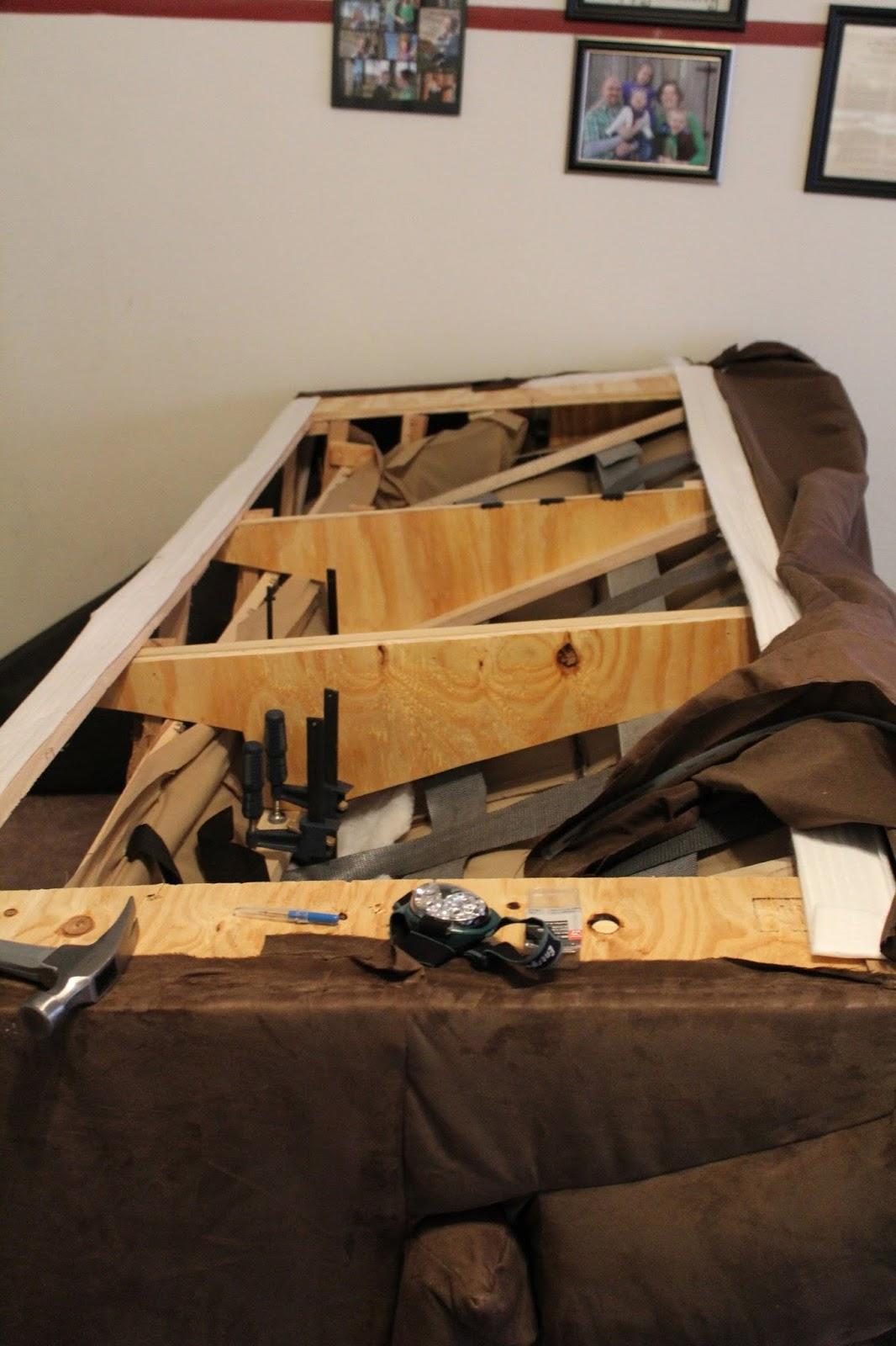 fixing a broken sofa arm living room sets diy project crazy