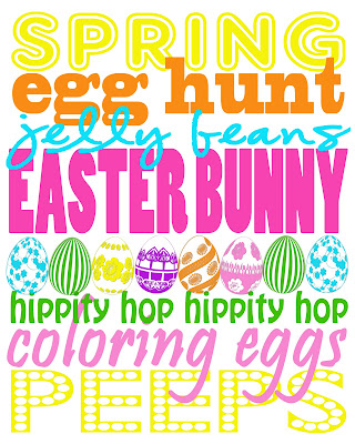 Easter Subway Art Printable by Tammy Mitchell Photography