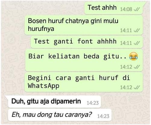 Cara Mengubah dan Membuat Tulisan di WhatsApp Menjadi Unik