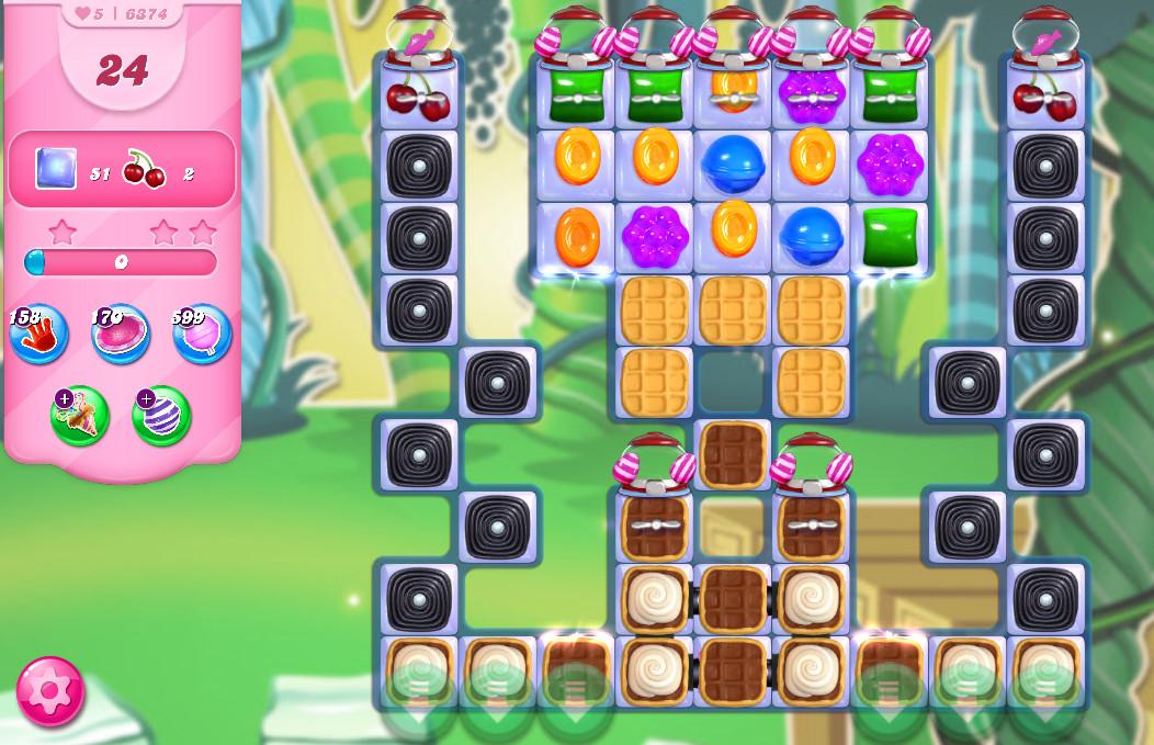 Candy Crush Saga level 6374