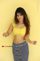 Cute Telugu Actress Shunaya Solanki High Definition Spicy Pos in Yellow Top and Skirt  0505.JPG