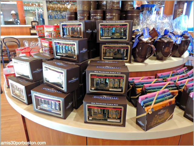 Chocolate en la Plaza de Ghirardelli en San Francisco