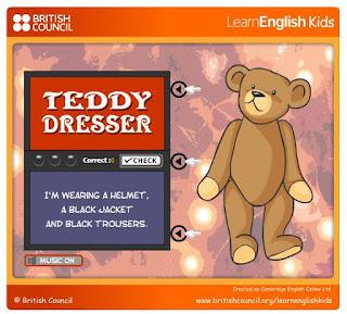 http://learnenglishkids.britishcouncil.org/es/fun-games/teddy-dresser