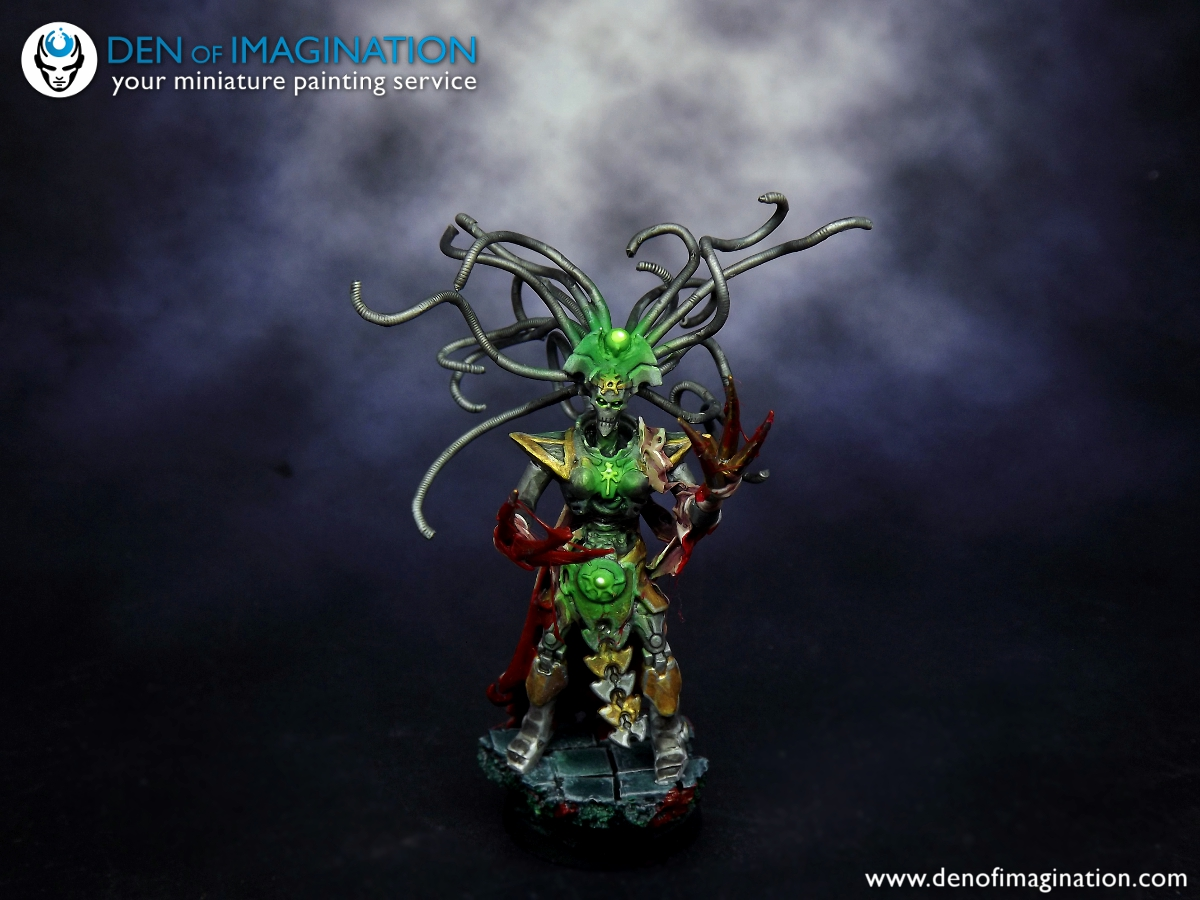 e6f89b62f An HQ that was made for one of our clients army s. I love the Green glow .  Just makes the whole model POP! And those teared skins mmm mm gore Necron  that s ...