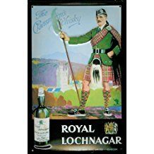 Royal Lochnagar mini-diseño de chapa Post tarjeta - 8 x 11 cm con diseño Retro de la placa de Metal tin sign
