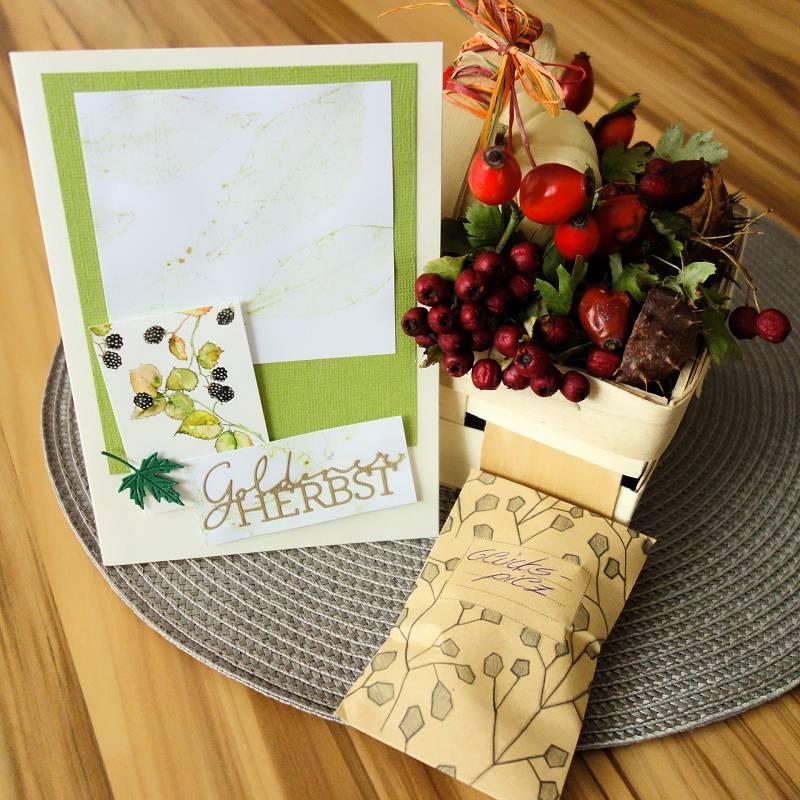 Herbstkarte basteln, Herbstpost, Herbstdekoration, Herbst Dekoration, Glueckspilz, DIY Blog