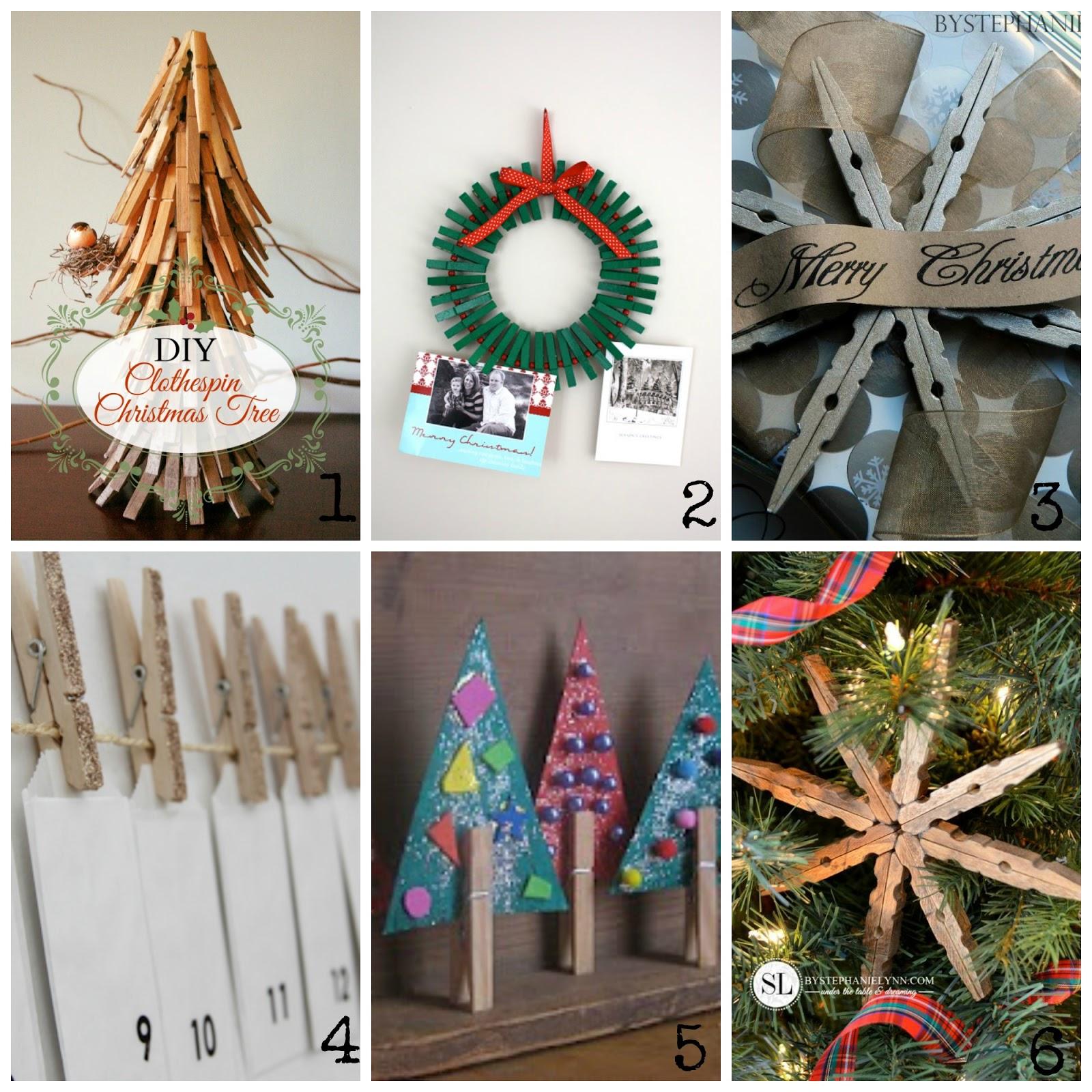 Decorazioni Natalizie Low Cost decorazioni natalizie con le mollette di legno | donneinpink