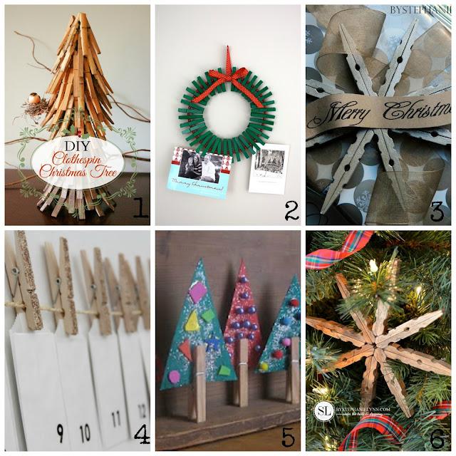 Decorazioni natalizie con le mollette di legno for Decorazioni natalizie in legno da appendere