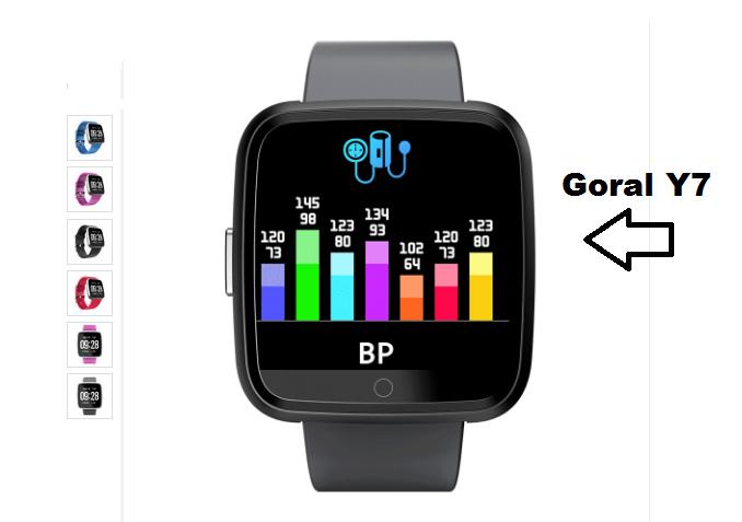 Goral Y7 a Cheap Sports SmartWatch