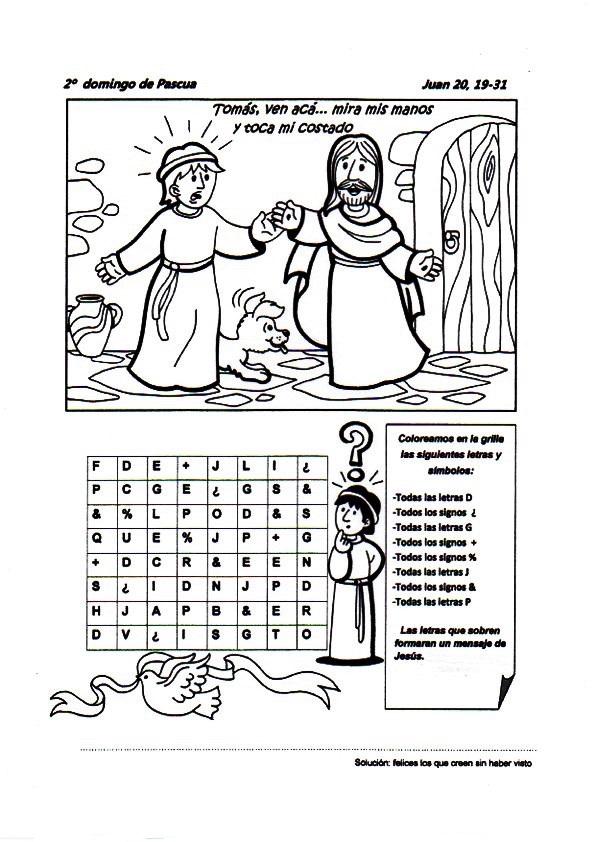 Parroquia La Inmaculada: Fichas para niños, 2º Domingo de
